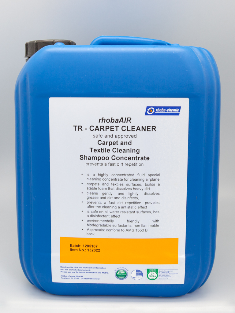 rhobaAIR TR Carpet Shampoo & Conditioning Concentrate Cabin Interior Cleaning